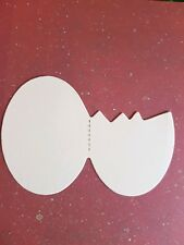 20 x SIZZIX CRACKED EGG DIE CUT SHAPES. CREAM CARD. EASTER-CARD MAKING-SCRAPBOOK