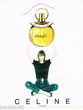 PUBLICITE ADVERTISING 065  1996  CELINE  parfum femme MAGIC