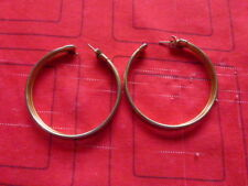 COSTUME JEWELLERY EARING ( FOR PIERCED EARS  ) 3 RINGED GOLD COLOURED.