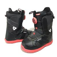 Burton Zipline BOA Youth Size 7 Snowboard Boots Black Red