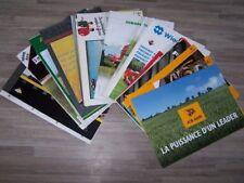 Lot de 40 Prospectus/Brochure/Prospekt agricoles/tracteurs Diverses Marque (2)