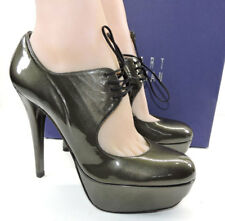 c7ccc608d2 Sz 8 Stuart Weitzman Time Platform Pump BOOTIES Khaki Patent Leather BOOTS