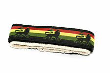 CHUMS THE BAND 18-20MM HEMP HOOK & LOOP REGGAE RASTA ONE PIECE SPORT WATCHBAND