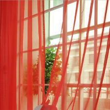 Solid Color Voile Window Curtain Tulle Sheer Drape Panel Home Room Hanging