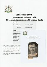 JACK SMITH NOTTS COUNTY RARE ORIGINAL FOOTBALL AUTOGRAPH NEWSPAPER PICTURE