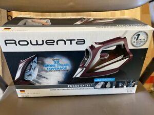 ROWENTA DW5270 Focus Excel Steam Iron, Regal Red - German Made (NEW)