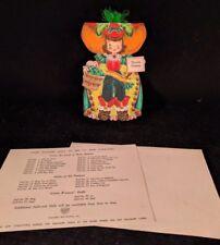1947 Hallmark Doll Card Land Of Make Believe Series #16, Peter Piper