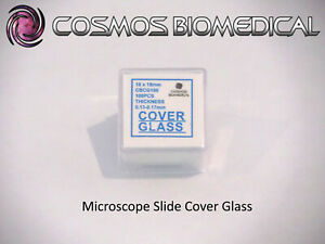 Microscope Cover Glass (1 pack of 100pcs)