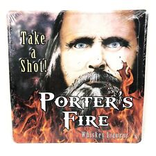 New Ogdens Own Distillery Porters Fire Canadian Whiskey Liqueur Tin Metal Sign