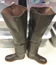 Rare Vintage USA Made Cabelas Rubber Hip Waders Boots US 9 UK 8 EU42 Watstiefel