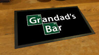 Grandad's Bar Breaking Bad inspired elements Fathers Day Sign pub man cave