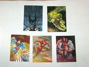 1994 DC MASTER SERIES INSERT DOUBLE SIDED SPECTRA 5 INSERT CARD SET JOKER! FLASH