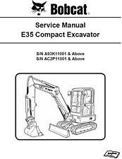Bobcat E35 Compact Excavator A93K, AC2P Service Manual CD