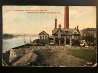 Vintage Postcard>1915>Fleming Residence>Susquehanna River>Harrisburg>PA