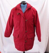 Eddie Bauer 00665 Vintage Parka Goose Down Puffer Full Zip Snaps Coat Women's M