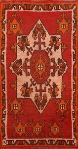 Vintage Authentic Moroccan Berber Oriental Area Rug Plush Wool Hand-knotted 3x5
