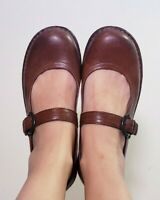 Born Women's Brown Leather Mary Jane Comfort Shoes! Size 8.5