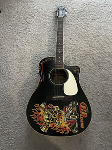 Fender Vince Ray Unlucky 13 Dreadnought Limited Edition Acoustic Electric Guitar