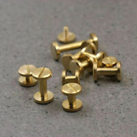 20pcs Solid Brass Binding Chicago Screws Nail Stud Rivets  Album Leather Bags