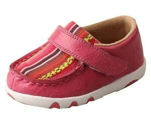 Twisted X Infant Girls Pink Serape Canvas Shoes  ICA0003
