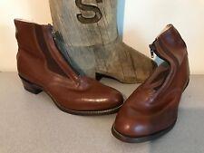 NEW A.M. Kroop & Sons Leather Cuban Heel Jodhpur Boots Men's 11 Women's 13