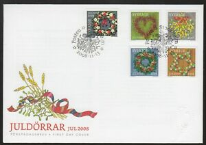 Sweden 2008 FDC Christmas Issue