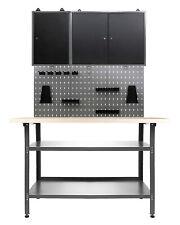 Ondis24 Werkstattset 120cm Werkbank Metall Werkzeugschrank Lochwand Hakenset NEU