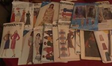Lot Of Vntage Womens Sewing Patterns Size 6-10, 25 Patterns