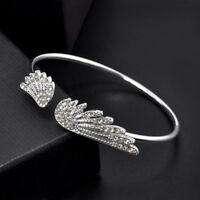 Eg _ Damen Silber Strass Kristall Engel Flügel Armreif Armband Schmuck