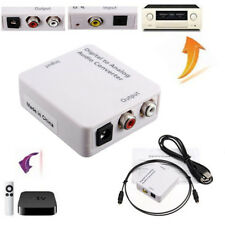 TV Optical Coaxial Digital to Analog Audio Converter Headphone Out RCA L/R
