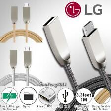 For LG Optimus - Micro USB Fast Charging Phone Data Sync Charger Braided Cable