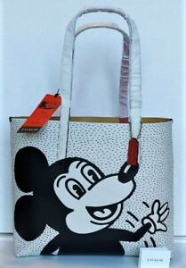 ⭐Coach Tote Disney Mickey Mouse X Keith Haring Highline Chalk #C0895 in Orig Pkg