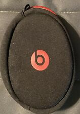 Beats by Dre Soft Zipper Pouch Made For Beats Solo Headphones -Black/Red