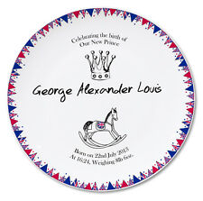 Royal Baby Bunting Plate - Baby Prince George Commemorative Plate