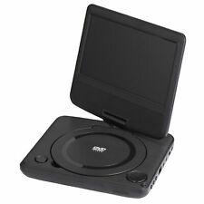 "ONN 7"" Inch Portable DVD Player Kit 180 degree Swivel + Bag Headphones Remote"