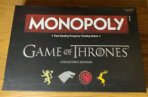 Game of Thrones Collectors Edition Monopoly By Has to 2015 - Complete & Unplayed