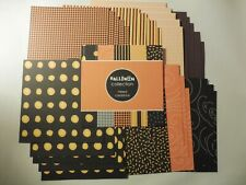 6X6 HALLOWEEN COLLECTION CARDSTOCK 36 SHEETS DOUBLE SIDED CARDS SCRAPBOOKING