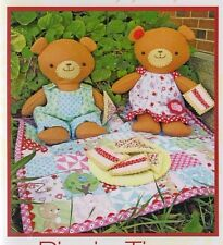 PATTERN - Picnic Time - teddies & picnic set softie PATTERN from Two Brown Birds