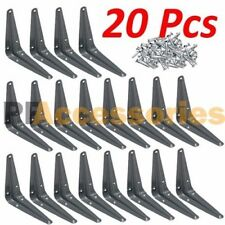"20 Pcs Heavy Duty 3"" x 4"" inch Metal Shelf Brackets Grey Book Contertop Support"