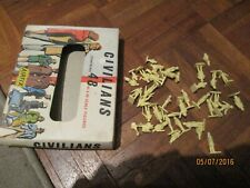 vintage AIRFIX CIVILIANS IN  EARLY RED STRIPE BOX 1:72 SCALE
