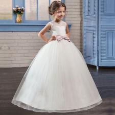 Andrea Flor Niñas Vestido Maxi Largo Completo Vestido De Dama Primera Comunión 3-10Y
