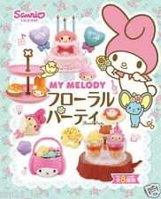 NEW Re-ment Miniature Sanrio My Melody Floral Party Set rement  Full set of 8