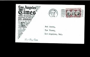 1931 FDC 2 cents Yorktown VA (Unofficial City Cachet, Los Angeles CA)