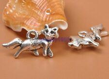 25pcs Tibetan Silver Charm Fox Pendant Accessories 22x12mm F3309