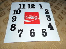 """5 1/2"""" Coca Cola Paper Dial  - For Restoration or New Project -Clock Parts /Dial"""