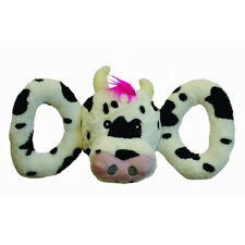 JOLLY PETS - Tug-a-Mal Cow Squeaky Tug Dog Toy Small - 3 Inches