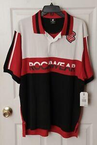 Rocawear Polo Shirt Red/Black/White Medium