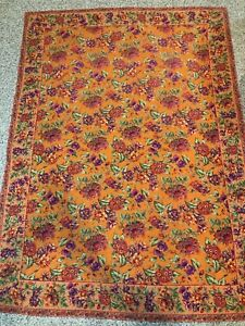 "April Cornell 56"" X 78"" Rectangular Tablecloth Orange Purple Green"