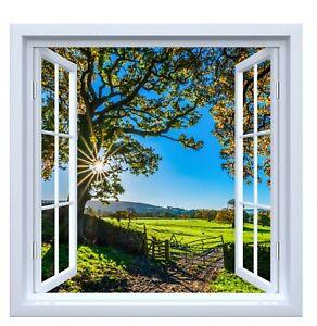 Country window wall vinyl sticker decal farmhouse modern decor 3 sizes new uk