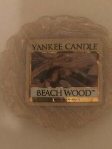 HTF Yankee Candle 🌧Beach Wood Wax Melt Tart Lot Of 2~8 Hours Of Fragrance Each